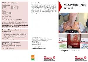 AHA ACLS Provider-Kurs | Ludwigshafen am Rhein | 27. Januar 2018 - 28. Januar 2018