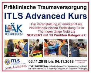 ITLS Advanced Provider Kurs - NOTZERT | Mühlhausen/Thüringen | 03. November 2018 - 04. November 2018