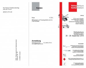 Refresherkurs Notfallmedizin | Goslar | 28. September 2018 - 29. September 2018
