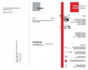 Refresherkurs Notfallmedizin | Goslar | 02. März 2018 - 03. März 2018